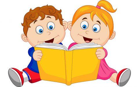18821722 - children reading a book
