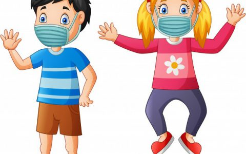 happy-children-cartoon-wear-protective-mask-from-virus-illustration_162786-55